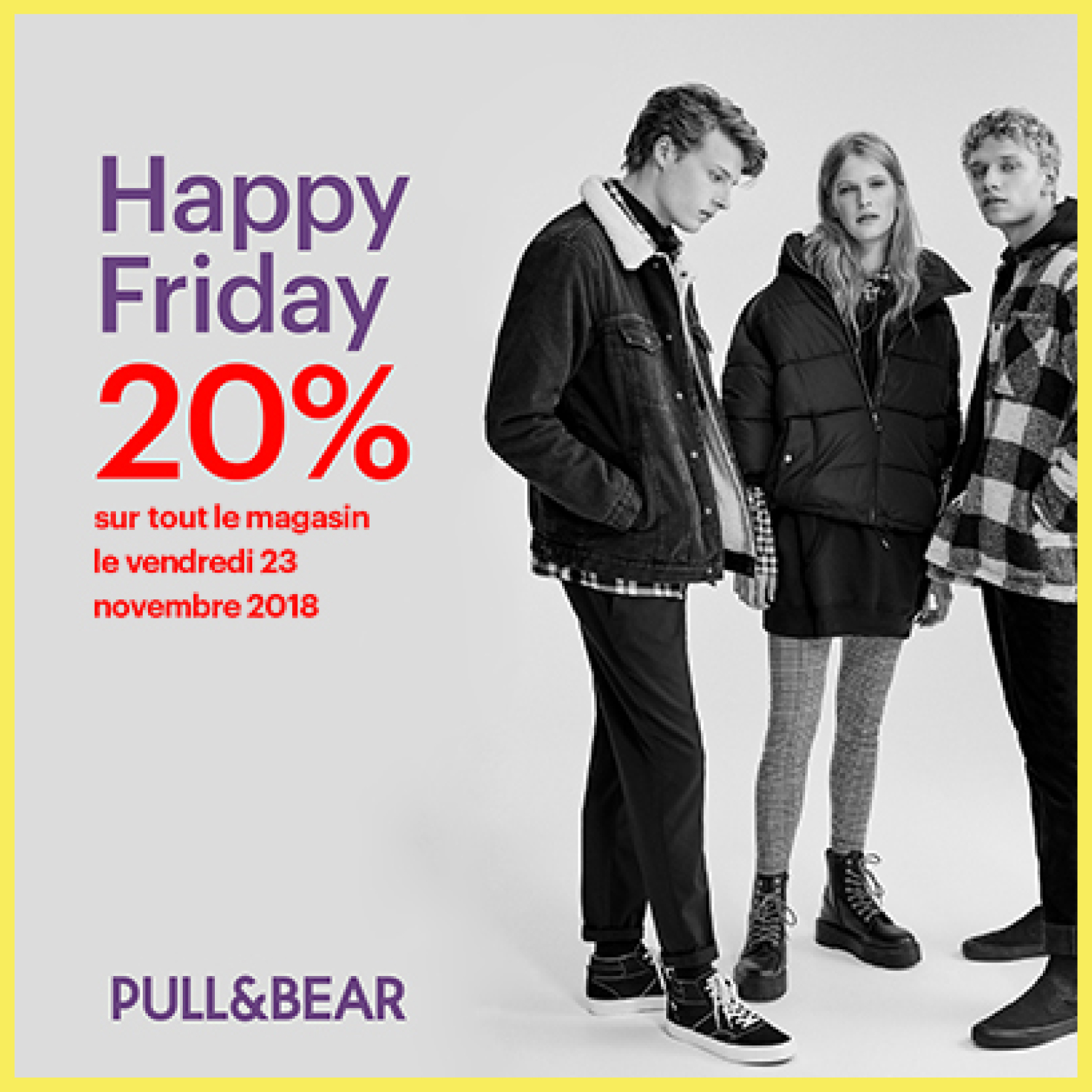 PULL & BEAR CÉLÈBRE LE HAPPY FRIDAY