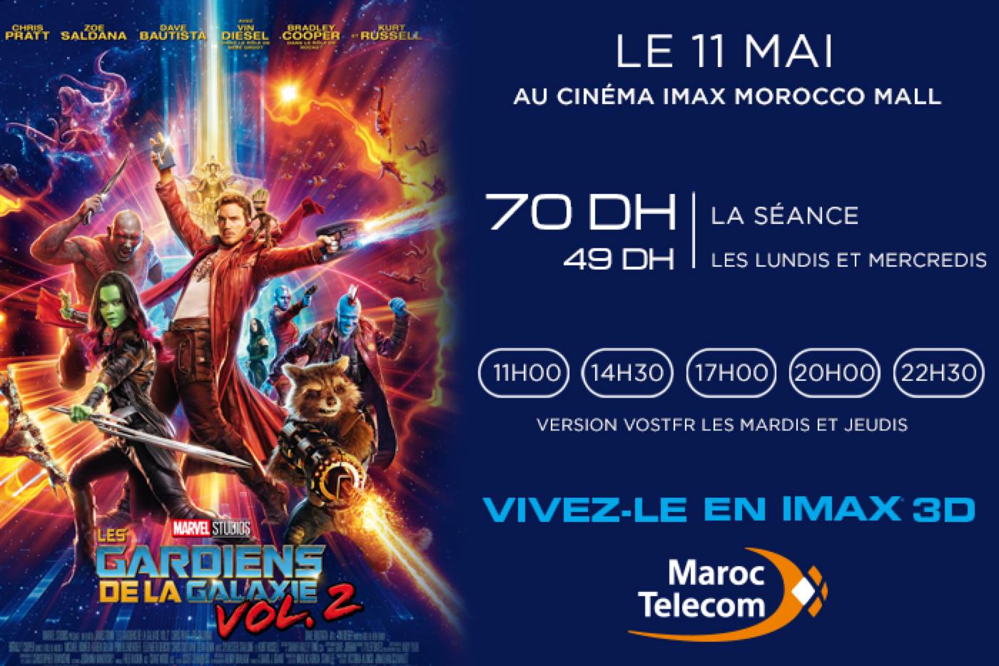 Film à l'affiche : GUARDIANS OF THE GALAXY